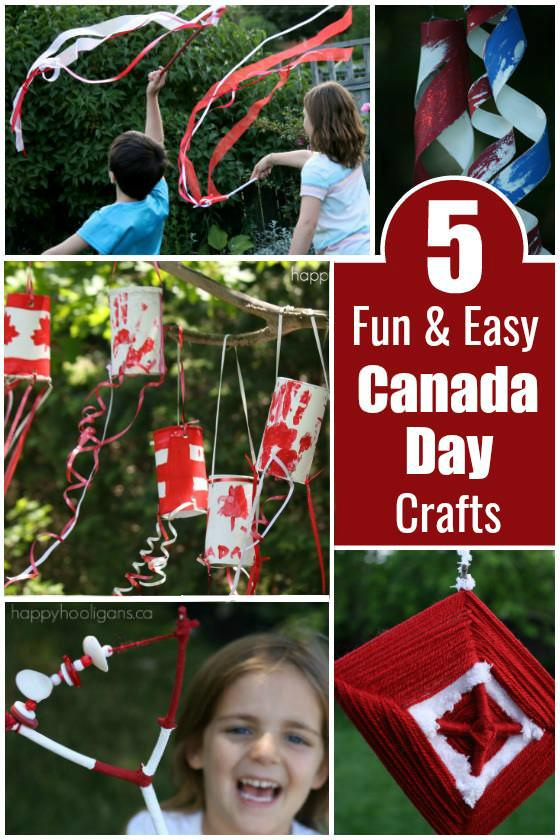 5 Fun and Easy Canada Day Crafts for Kids 2-10 - Happy Hooligans