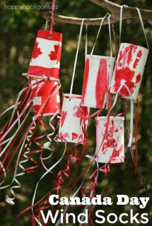 Patriotic Canada Day Windsock Craft for Kids