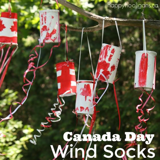 Patriotic Canada Day Windsock Craft For Kids Happy Hooligans
