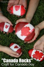 """Canada Rocks"" – A Quick and Easy Canada Day Craft for Kids"
