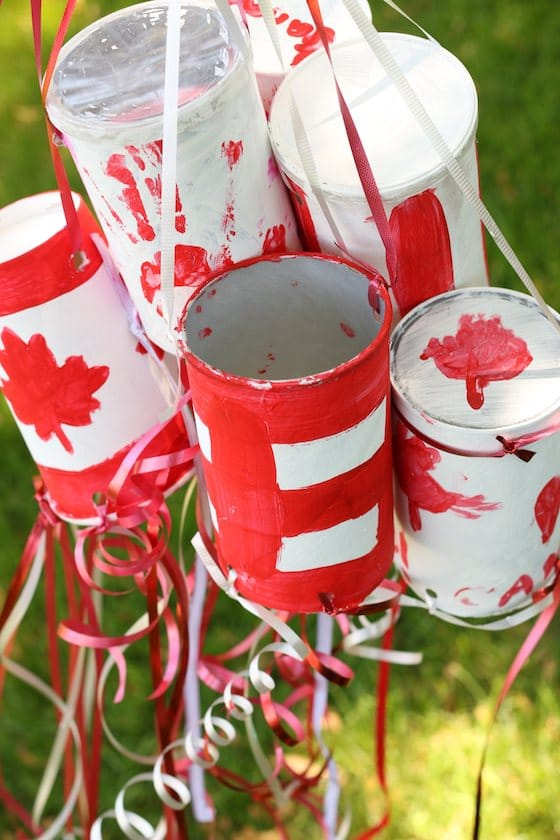 Homemade Canadian Windsocks