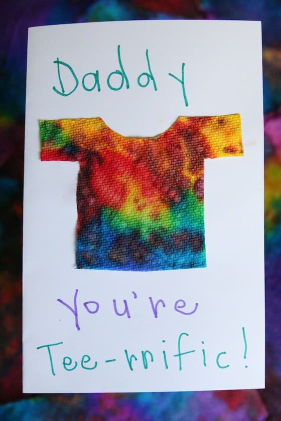 Cutest Homemade Father's Day Card
