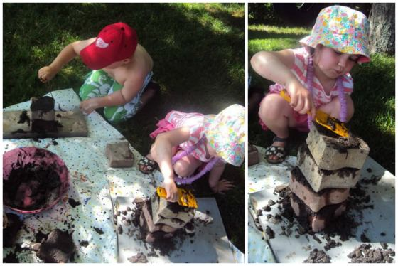 bricklayer mud activity for kids