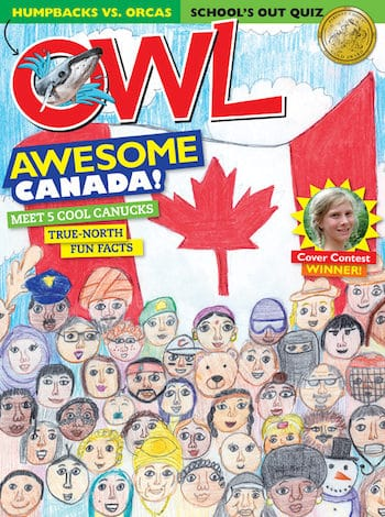 Owl Magazine Canada Day Cover contest winner