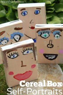 Cereal Box Self-Portrait Craft for Kids