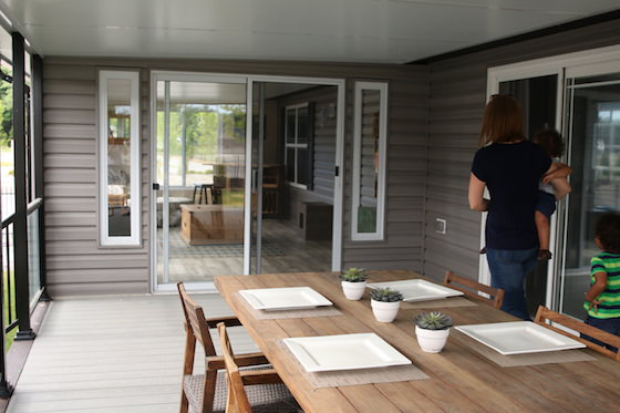Covered Deck on Mobile Home - Sherkston Shores Beach Resort