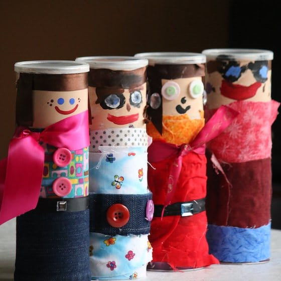 pringles can people - treasure jars for kids to make
