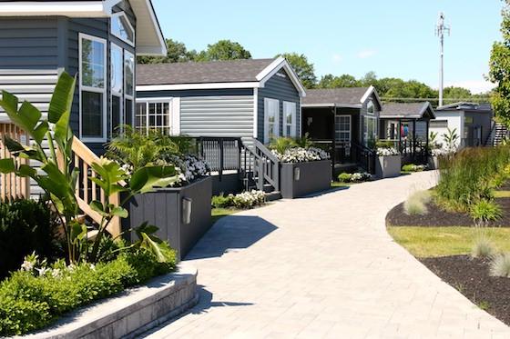Model cottages at Sherkston Shores