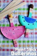 Easy, Adorable Paint Stick Ballerina Craft