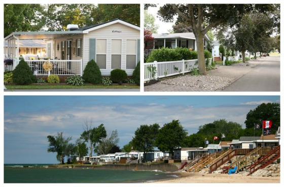 Beachside cottages at Sherkston Shores Resort