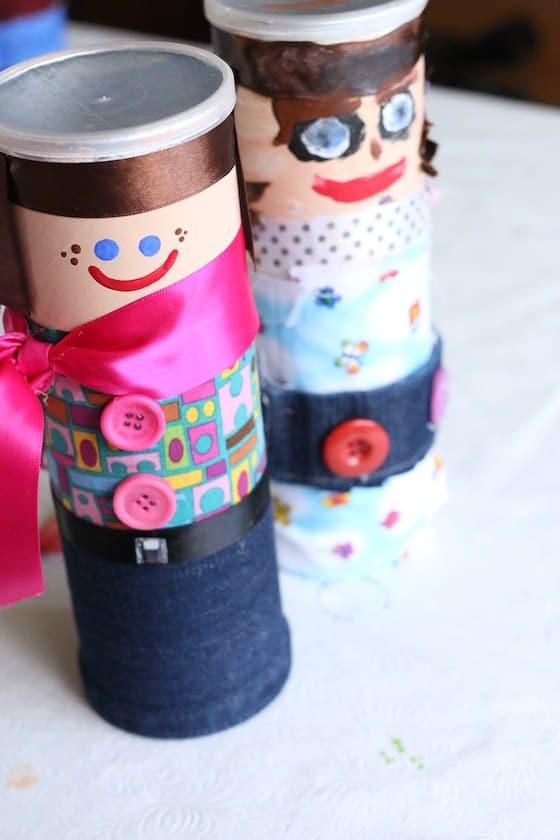 Pringles Can People Treasure Jars For Kids To Make