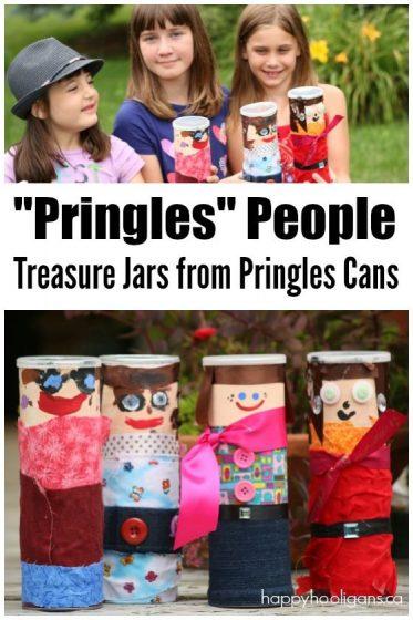 Pringles Can People Craft - Treasure Jar Pringle's Can Craft