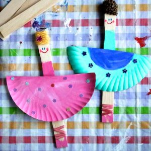 paper plate ballerinas