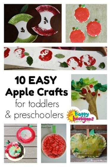 Easy Preschool Apple Crafts - Happy Hooligans