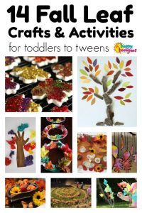 Fall Leaf Crafts for Kids from toddler to tween
