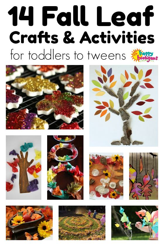 Fall Leaf Crafts and activities for Kids from toddler to tween