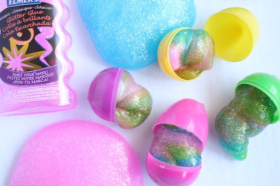 Colourful Unicorn Slime with Elmers Glitter Glue