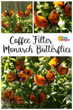 Gorgeous Monarch Butterfly Craft with Coffee Filters and Liquid Watercolours