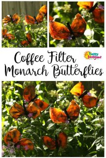 Coffee Filter Monarch Butterfly Craft - Happy Hooligans