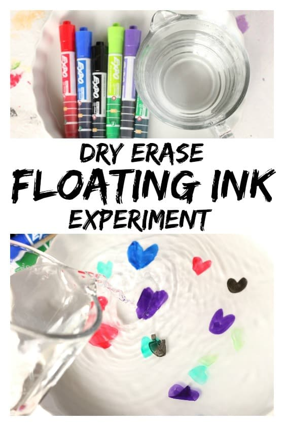 "Dry Erase and Water ""Floating Ink"" Experiment"