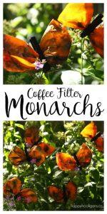Coffee Filter Monarch Butterflies