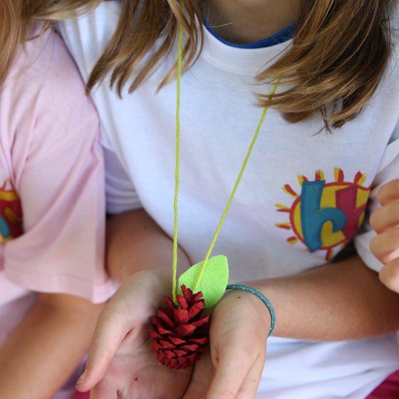 pinecone apple necklace craft