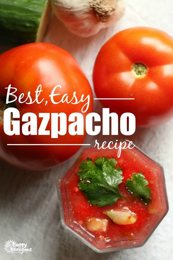 Easy Gazpacho Recipe Made with Fresh Tomatoes