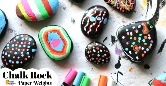 Chalk Rock Paper Weights for Facebook