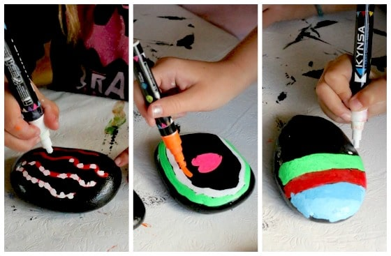 Art activity for kids using liquid chalk markers