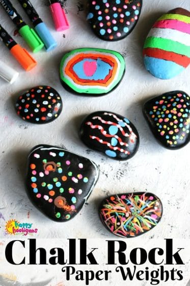 Liquid Chalk Rock Paper Weights by Happy Hooligans -2