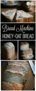 Easy Bread Machine Honey Oat Bread for Pinterest