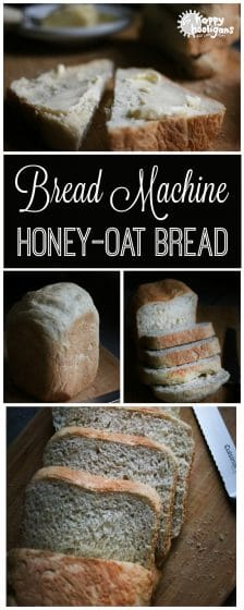Easy Bread Machine Honey Oat Bread for Pinterest
