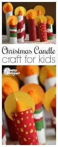 Cardboard Roll Christmas Candle Craft Long Pin