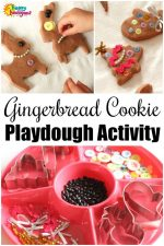 Gingerbread Play Dough Cookie Decorating Activity for Kids