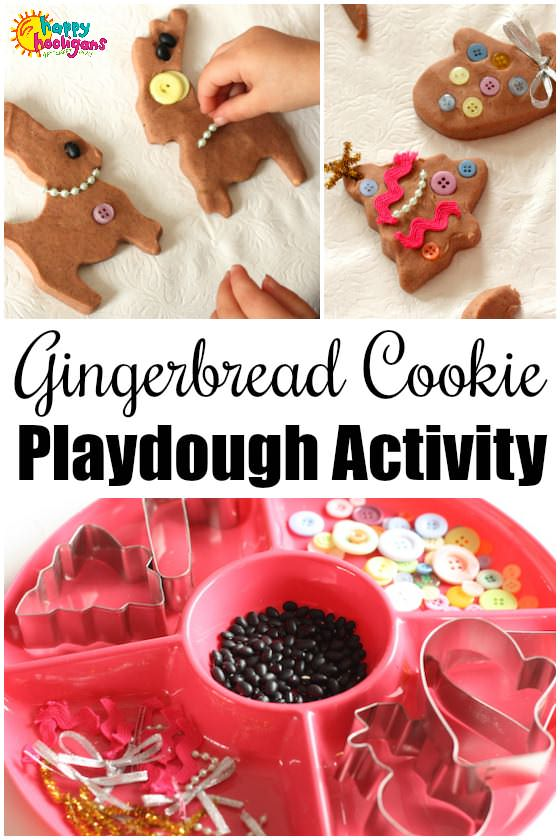 Gingerbread Cookie Play Dough Activity