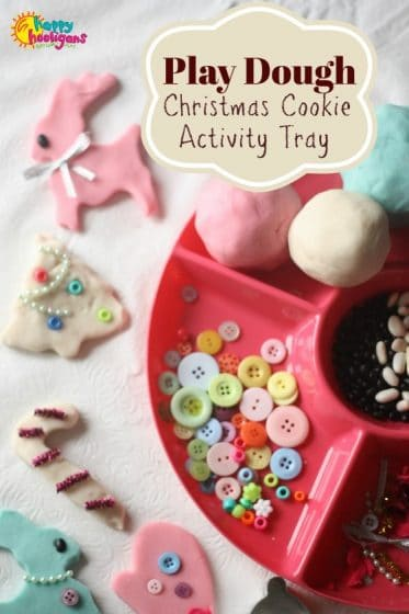 Play Dough Christmas Cookie Activity Tray for Toddlers and Preschoolers