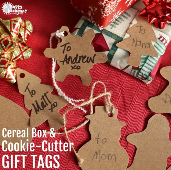 Cereal Box and Cookie Cutter Gift Tags