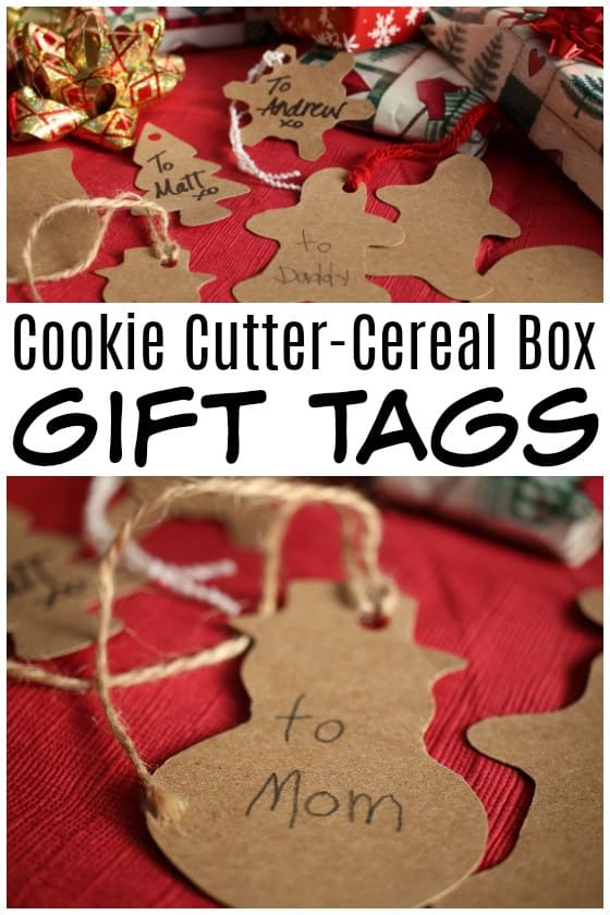 Cookie Cutter Cereal Box Gift Tags