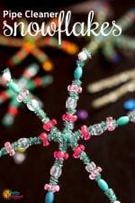 Beautiful Pipe Cleaner Snowflakes for Kids to Make