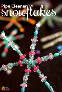 Easy Pipe Cleaner Snowflakes for Kids to Make - Happy Hooligans