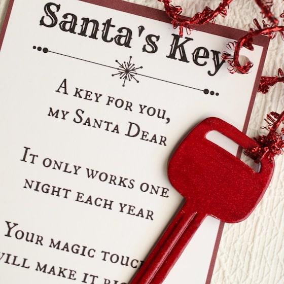 Santa's Magic Key - With Free Printable Poem