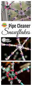 Pipe Cleaner Snowflake Ornaments by Happy Hooligans