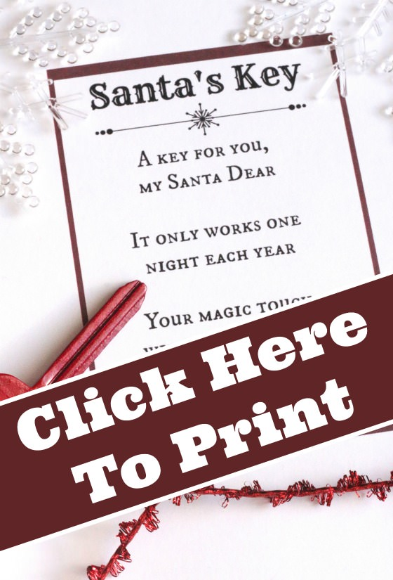 picture relating to Printable Poem titled Santas Magic Top secret - With No cost Printable Poem - Content Hooligans