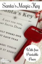 Santa's Magic Key – with Printable Poem