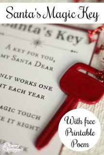 Santa's Magic Key with Free Printable Poem