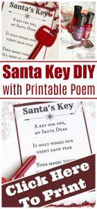Santa Key with Printable Poem for Christmas Eve