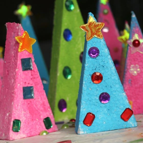 kids christmas craft - table toppers