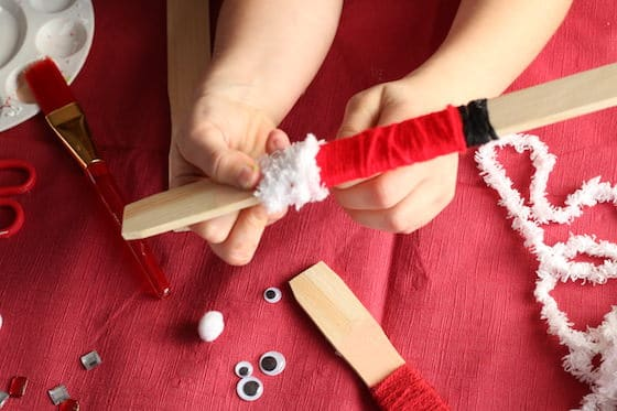 yarn wrapped santa craft