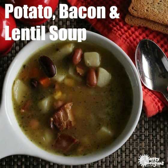 Lentil, Potato, Bacon and Vegetable Soup