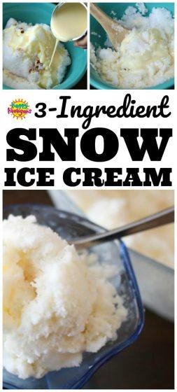 Snow Ice Cream Recipe AKA Snow Cream Recipe